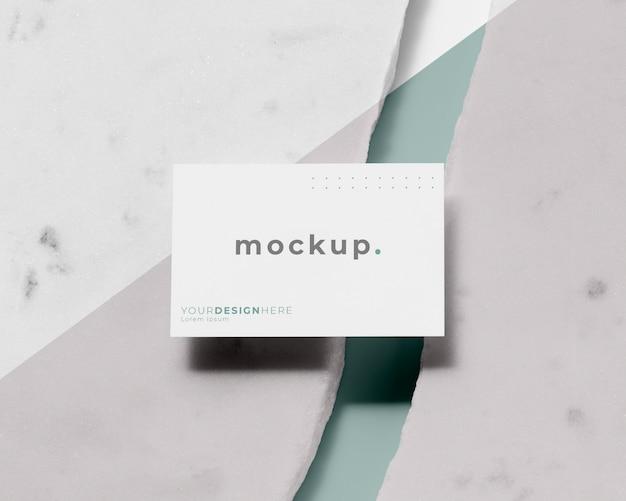 Moderne opstelling van mock-up visitekaartje