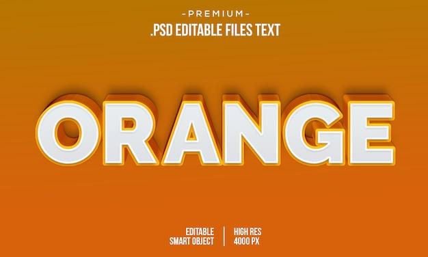 Moderne oranje liefde 3d-verloop vetgedrukte tekst stijl