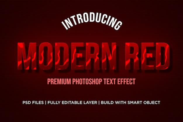 Moderne rode teksteffectstijlen
