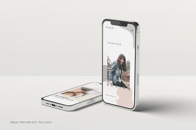 Moderne slimme telefoons mockup