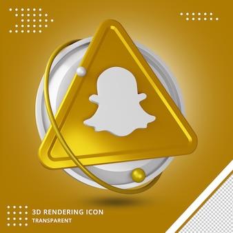 Moderne snapchat sociale media geïsoleerd 3d pictogram