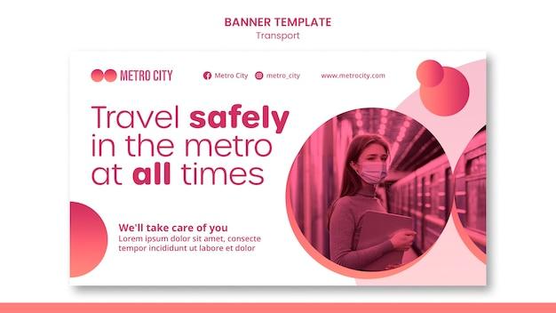 Moderne transport horizontale banner