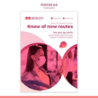 Moderne transport nieuwe routes poster