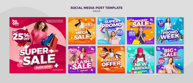 Moderne verkoopberichten op sociale media