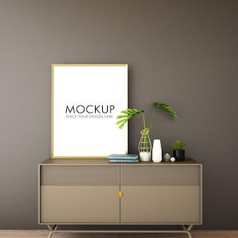 Moderne woonkamer interieur met wandmodel
