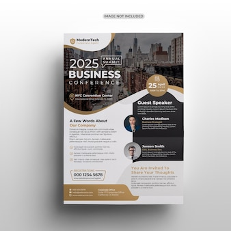 Moderne zakelijke conferentie flyer sjabloonontwerp