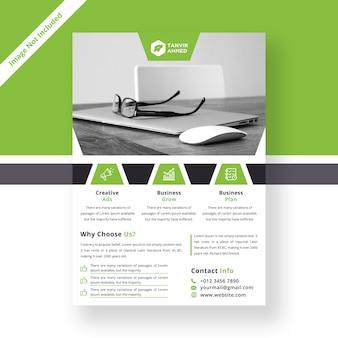 Moderne zakelijke sjabloon folder
