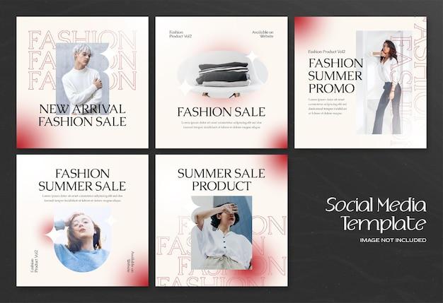 Moderne zomermode social media banner en instagram postsjabloon