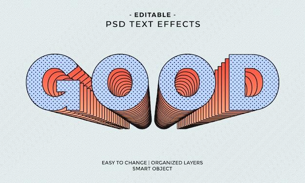 Moderno colorido efecto de texto bueno