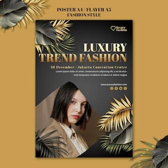Modeshow poster sjabloon met foto