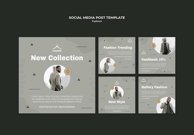 Modewinkel sociale media post-sjabloon