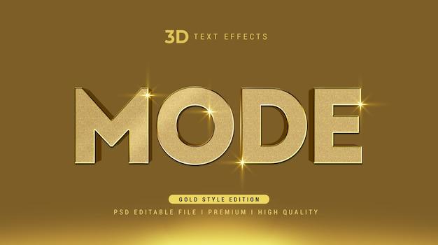 Modo plantilla de efecto de estilo de texto 3d