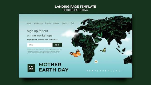 Moeder aarde dag websjabloon