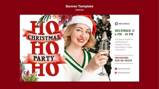 Moge uw kerst een heldere en vrolijke banner zijn
