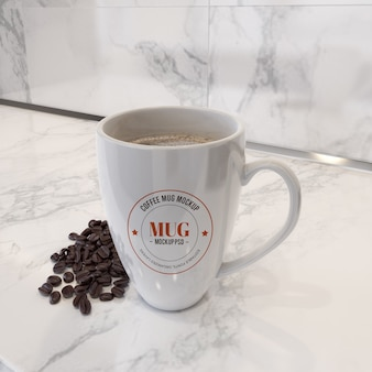 Mokmodel met koffiebonen