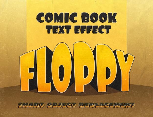 Mollig teksteffect: vintage stripstijl