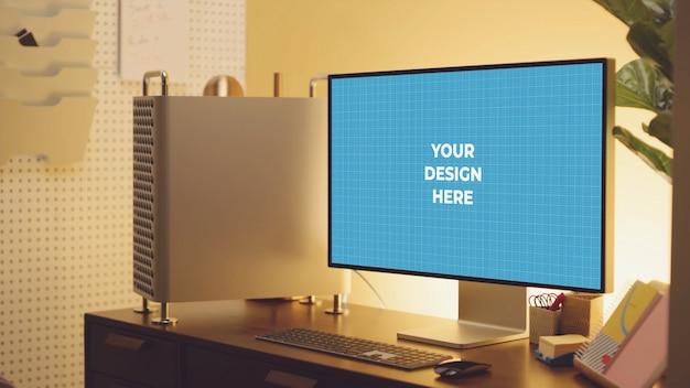 Monitor op tafel