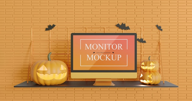 Monitorschermmodel in halloween-editie