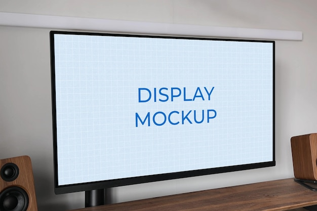 Monitorweergave mockup alles-in-één pc