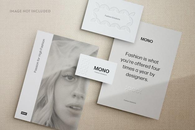 Monochroom briefpapier mockup