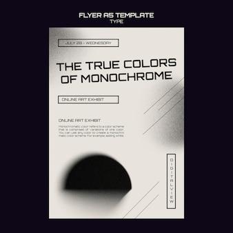 Monochroom kunstafdruksjabloon