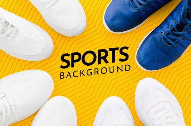 Montatura di scarpe sportive con mock-up
