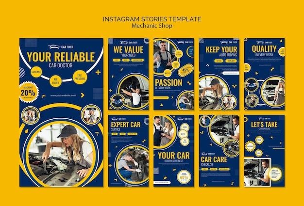 Monteur winkel instagram verhalen sjabloon