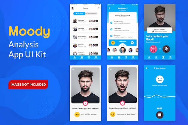 Moody analysis app ui kit