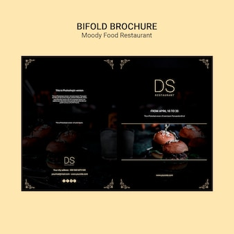 Moody food restaurant tweevoudige brochure