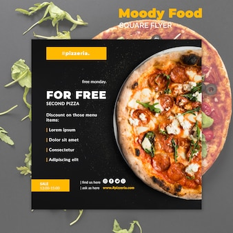 Moody maqueta de comida de restaurante