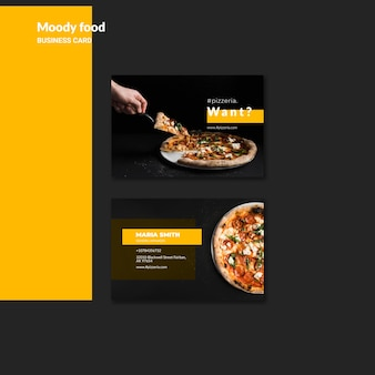 Moody restaurant eten visitekaartje mock-up