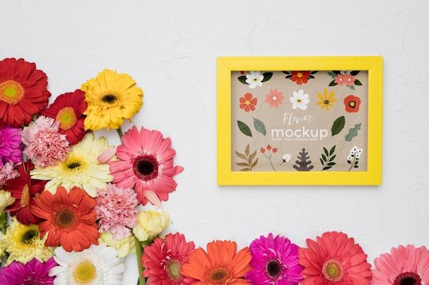 Mooi bloemenconceptmodel