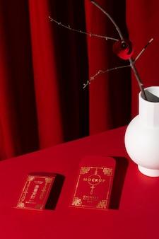 Mooi chinees nieuwjaarconceptmodel