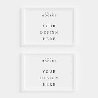 Mooi frame concept mockup in lege ruimte
