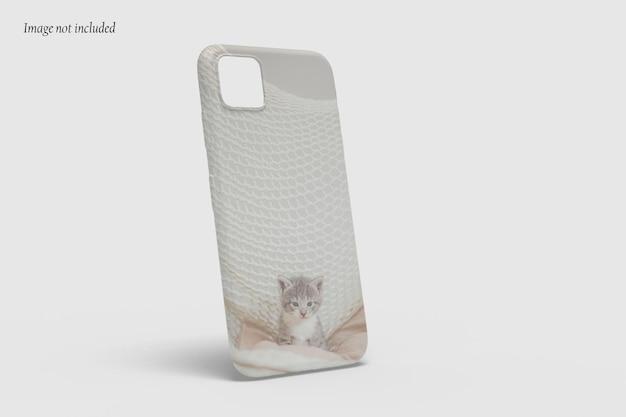 Mooi hoesje telefoonmodel ontwerp geïsoleerd