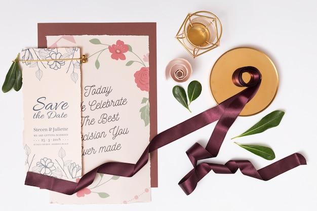 Mooi model met trouwkaarten