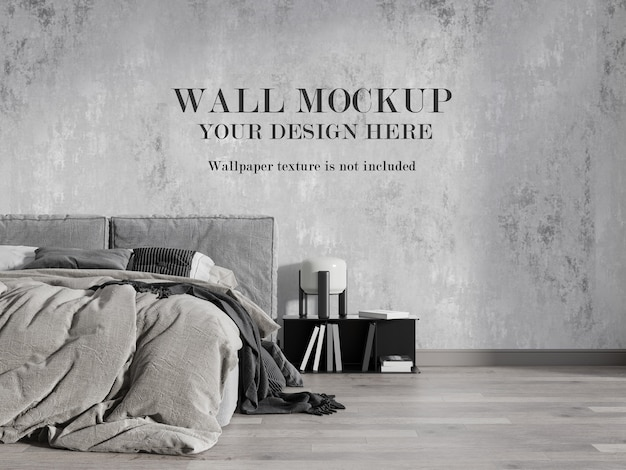 Mooi modern slaapkamermuurmodel