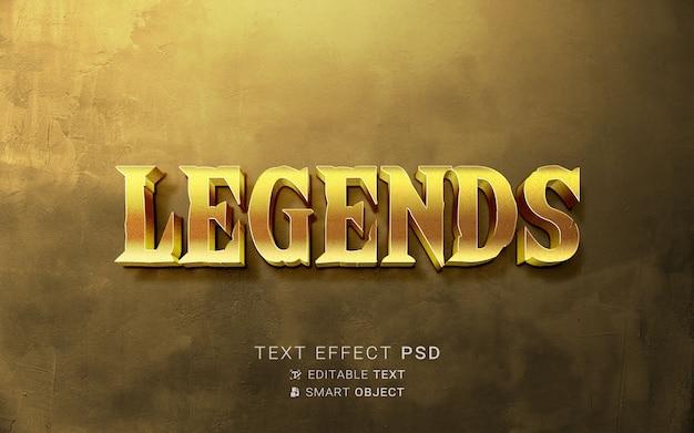 Mooi teksteffect voor legendes