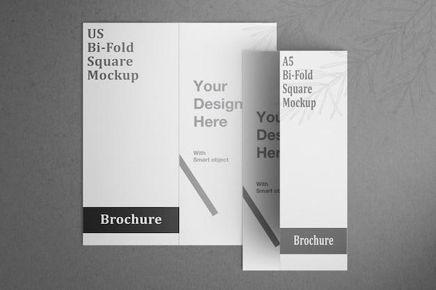 Mooi tweevoudig brochuremodel