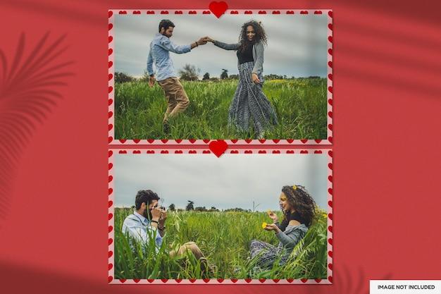 Mooi valentijn papier frame mockup