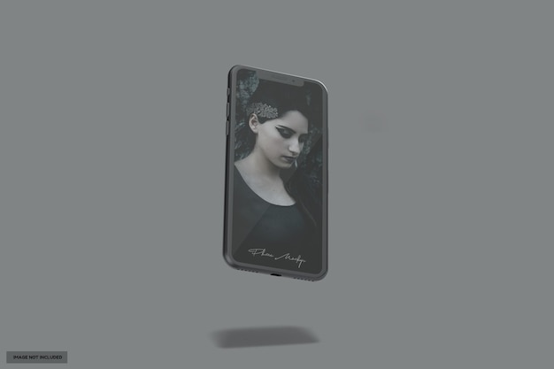 Mooi vliegend zwart glanzend telefoonmodel