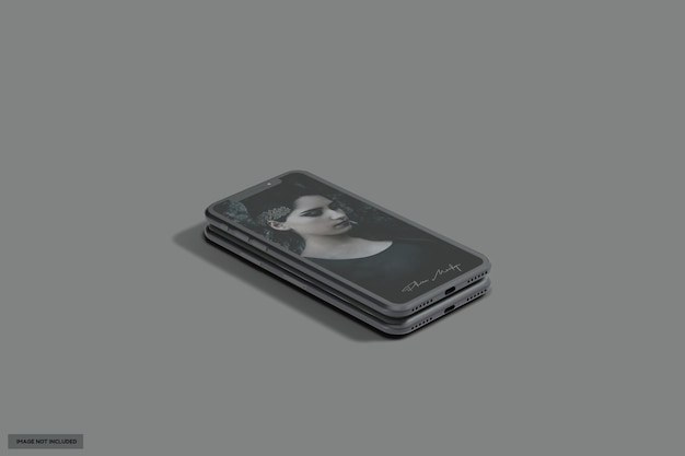 Mooi zwart glanzend telefoonmodel