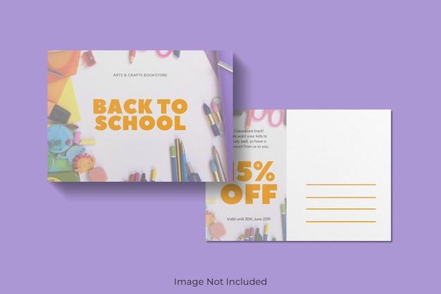 Mooie ansichtkaart mockup ontwerp geïsoleerd