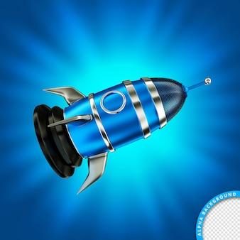 Mooie blauwe metalen raket