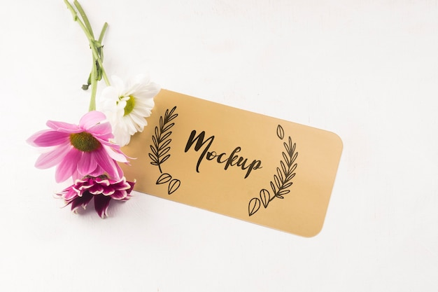 Mooie bloem concept mock-up