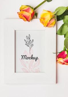 Mooie bloemen concept mock-up