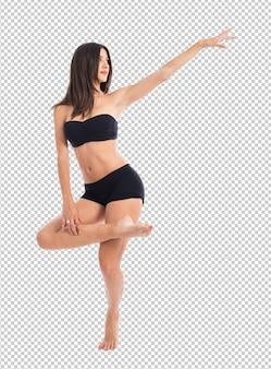 Mooie fitness vrouwelijke poseren