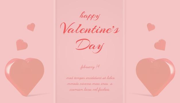 Mooie happy valentijnsdag banner mockup