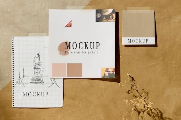 Mooie herfst moodboard mock-up