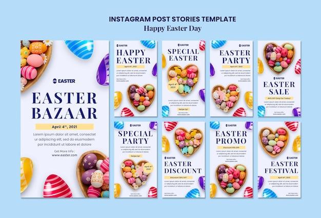 Mooie instagramverhalen van paasdagevenementen Premium Psd